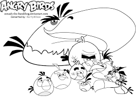 Angry Birds Printable Space Coloring Pages