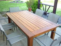 Rustic Outdoor Dining Tables Laurenancona Me Intended For Large Table Ideas 17