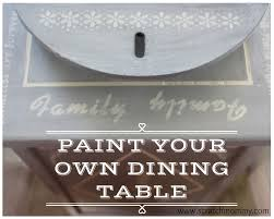 Learn To Paint Your Dining Room Table