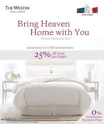 uob westin heavenly beds
