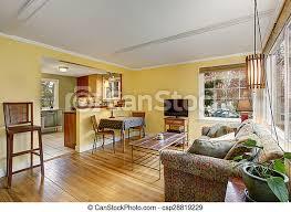 wohnzimmer bunte hartholz walls sofa gelber reizend