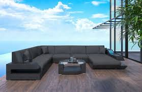 rattan sofa modern ravenna u form gartenmöbel rattansofa set