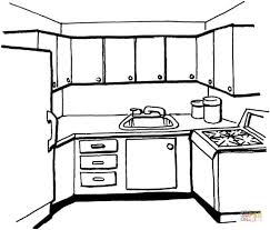 Kitchen Coloring Page Free Printable Pages Download For Kids