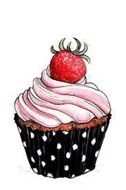 Drawing clipart cupcake 6