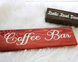 Red Kitchen Signs Sign Coffee For Bar