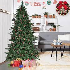 Christmas Tree Amazon Prime by Amazon Com Goplus 6ft Christmas Tree Artificial 1388 Tips Premium