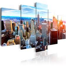 wandbilder new york leinwandbild bild skyline wohnzimmer