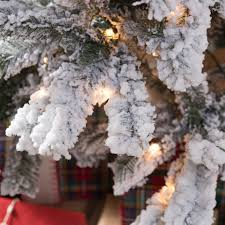 Slim Pre Lit Christmas Tree 75 by Classic Flocked Slim Pre Lit Christmas Tree Hayneedle