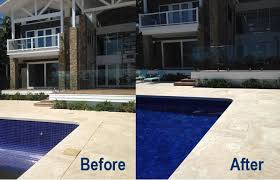 pavers tiles waterline stackstone cladding pool