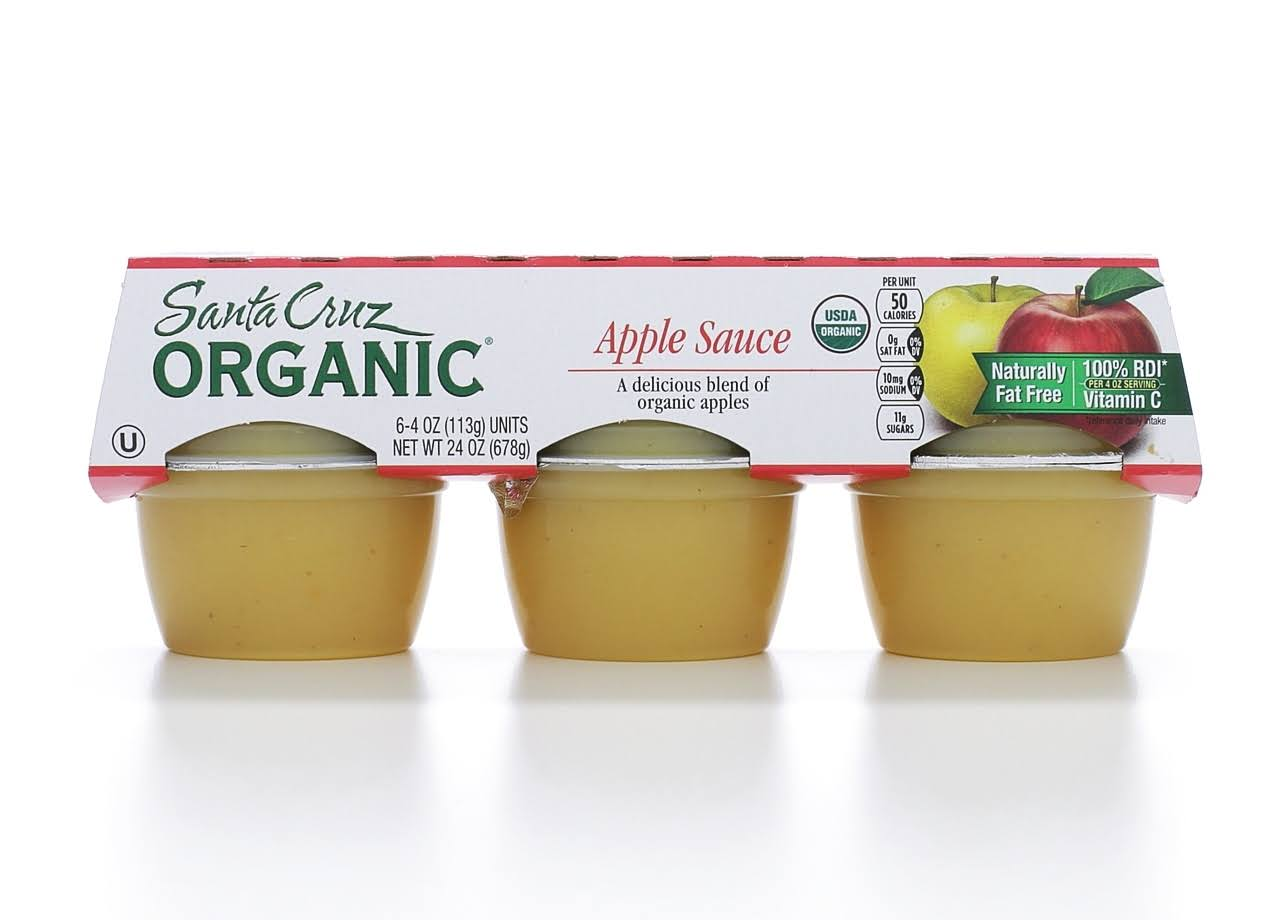 Santa Cruz Organic Apple Sauce - 6 Count, 4oz Cup