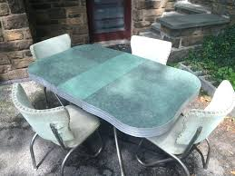 Retro Kitchen Table Sets And Green Chrome Chairs Top Down 56