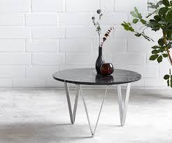 couchtisch luminoso 60x60 cm marmor schwarz mit metallgestell