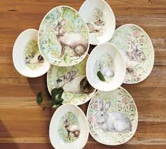 Easter Entertaining Pottery Barn Bunny Egg Plates and Bowls