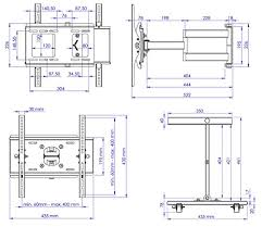 support tv mural orientable et inclinable 2 ricoo support mural