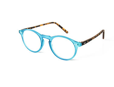 Optimum Womens Blue & Tortoise Brown Reading Glasses