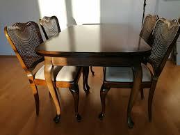 esszimmer garnitur chippendale stil ausziebarer tisch 4 stühle