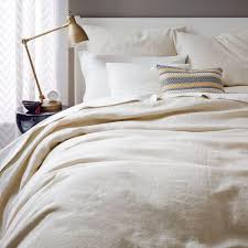 Belgian Flax Linen Quilt Cover Pillowcases Natural Flax West
