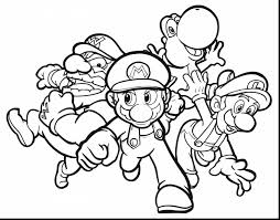 Amazing Mario Printable Coloring Pages With Super And Koopa
