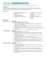 Resume Examples For Factory Workers