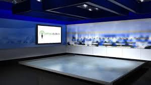 Virtual News Room Studio Sets Backgrounds