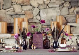 Vintage Plum Wedding Idea And Decoration
