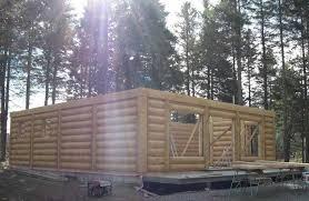 construction de chalet en bois rond usiné prestige bois rond