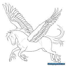 Unicorn Pegasus Coloring Pages