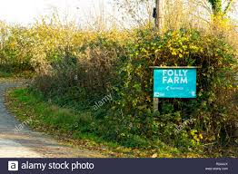 100 Farm Folly Centre Near Bristol Sign Pointing The Way To The