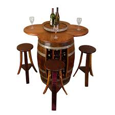 Wine Themed Kitchen Set by Wine Barrel Table Set With Wine Rack Base