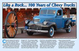 Traveler Magazine: 2011 11 100 Years Of Chevy Trucks Page 1 Motor Trends Truck Trend 15 Anniversary Special Photo Image Gallery Kentland Tower 33 Featured In Model World Magazine Uk Street Trucks Magazine Youtube Lowrider Pictures Autumn 2017 Edition Pro Pickup 4x4 Sport August 1992 Ford Vs Chevy Whats It Worth Caljam 2002 Extreme Ordrive February 2003 Three Diesel Cover Quest December 2009 8lug Monster Truck Photo Album Nm Car And Issue 41 By Inspirational Big 7th And Pattison Classic News Features About Classics