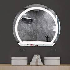 wlher led badspiegel mit beleuchtung 3 farben warmweiß