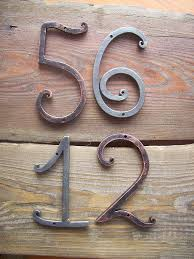 Fairy Wrought House Number Metal Numbers 5 Inches Door Address Sign Flat Room Rustic Decor