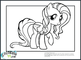 My Little Pony Coloring Pages Fluttershy Gala Baby Rainbow Dash Beautiful Free Colo