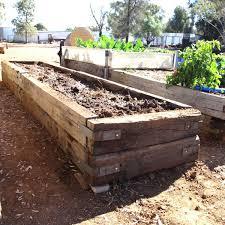 Building Raised Garden Beds With Railroad Ties In Meg39s Garden A