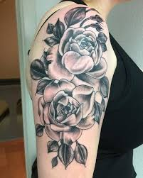 Simple Rose Tattoo Design Ink Idea For Ladies On The Sleeve