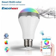 excelvan a65 7w rgb wireless bluetooth smart led light bulb