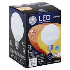 general electric 5 watt led decorative globe frosted finish light