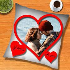 coussin avec photo personnalise imaginer pour la valentin un coussin personnalisé avec une photo