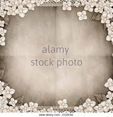 Paper Vintage Background With Flowers Pearls Lace