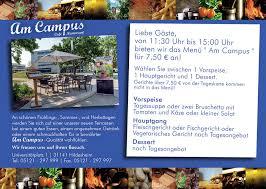 cafe restaurant am cus in der uni hildesheim about