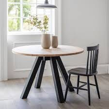 Oak Round Dining Table In Brown Or Black | Garden Trading Oak Round Ding Table In Brown Or Black Garden Trading Extending Vintage And Coloured With Tables Glass Square Wood More Amart Fniture Serene Croydon Set 4 Marlow Faux Leather Eaging Solid Walnut And Chairs White Outdoor Winston Porter Fenley Reviews Wayfair Impressive 25 Levualistecom Amish Merchant Oslo Ivory Leather Modern Direct Rhonda In Blacknight Oiled Woood Cuckooland Chair Seats Round Extending Ding Table 6 Chairs Extendable