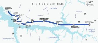 The Tide Hampton Roads Transit Bus trolley light rail and
