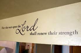 They That Wait Upon Beautiful Bible Verse Wall Decals