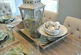 French Country Table Lantern Centerpiece Antique And Chairs