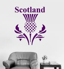Wall Mural Decals Flowers by Vinyl Wall Decal Scotland Scottish Thistle Flower Symbol Stickers