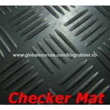 China Rubber Flooring For Basement Floor Checker Diamond Ribbed Patterns Available