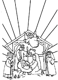 Christmas Color For Adults Nativity Story Coloring Pages 2 Kids