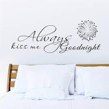baise dans la chambre baiser toujours moi bonne nuit citations stickers muraux chambre