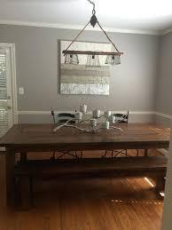 diy edison bulb light fixture a rustic dining room table
