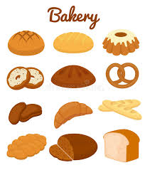 Set Of Colorful Bakery Icons Stock Vector Illustration Rh Dreamstime Com Croissant Sandwich With Eggs Clip Art